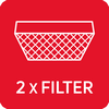 Grease filter Carbon filters : 2